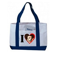 I Love Grocery Shopping Tote Bag With Large Outside Pocket