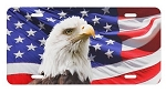 License Plate - USA Flag with Eagle