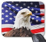 USA Flag Eagle Mouse Pad