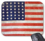 Grunge USA Flag Mouse Pad