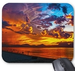 Fire Sunset Mouse Pad