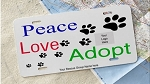 License Plate - Rescue Peace Love Adopt (CUSTOM)