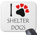 I Love Shelter Dogs Mouse Pad