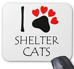 I Love Shelter Cats Mouse Pad