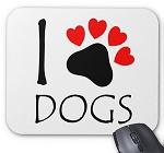 I Love Dogs Mouse Pad - Dog