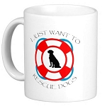 I just want to Rescue Dogs Mug