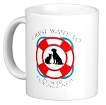 I just want to Rescue Dogs & Cats Mug