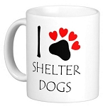 I Love Shelter Dogs Mug