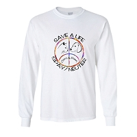 Long Sleeve T-Shirt - Claws & Paws (Light)  Save a Life Spay & Neuter
