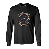 Long Sleeve T-Shirt - Claws & Paws (Dark) Save a Life Spay & Neuter