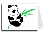 Custom Note Card - Panda