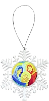 Snowflake Holiday Ornament - Nativity 4