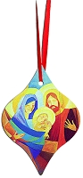 Metal Tapered Holiday Ornament - Nativity 4