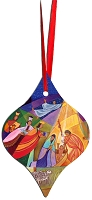 Metal Tapered Holiday Ornament - Nativity 5