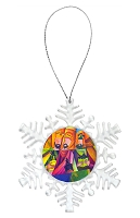 Snowflake Holiday Ornament - Wise Men 2