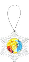 Snowflake Holiday Ornament - Nativity 2