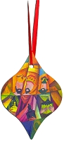 Metal Tapered Holiday Ornament - Wise Men 2