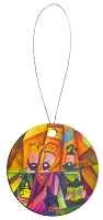Round Holiday Ceramic Ornament - Wise Men 2