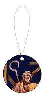 Round Holiday Ceramic Ornament - Joseph 6
