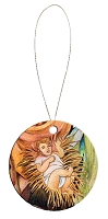 Round Holiday Ceramic Ornament - Baby Jesus 6