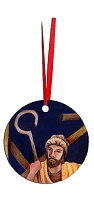 Round Holiday Metal Ornament - Joseph 6