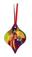 Metal Tapered Holiday Ornament - Wise Men 7