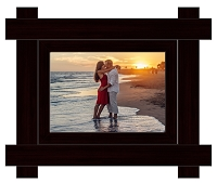 Imperial Brown Wood Frame - 5x7 Photo