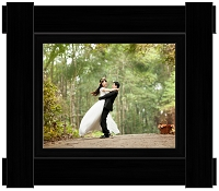 Imperial Black Wood Frame - 8x10 Photo