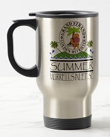 14 oz. Silver Stainless Travel Mug - Grand Strand Golden Retriever Rescue Summer