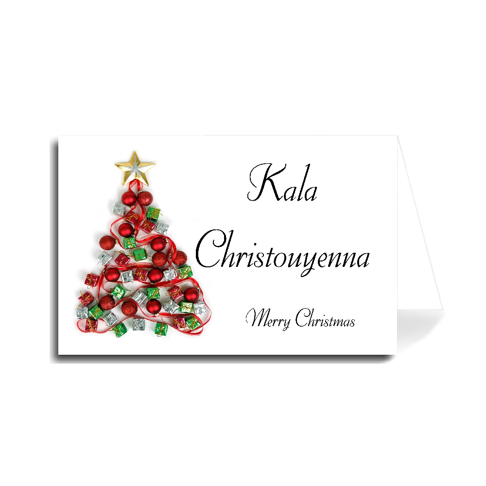 Merry Christmas In Greek Greeting Cards   Holiday   Christmas   Made in USA   Christmas