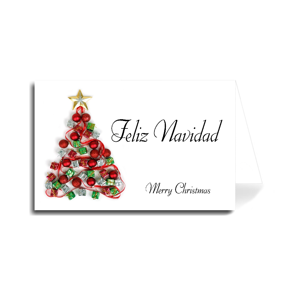 Christmas Wishes In Spanish.Greeting Cards Holiday Christmas Made In Usa
