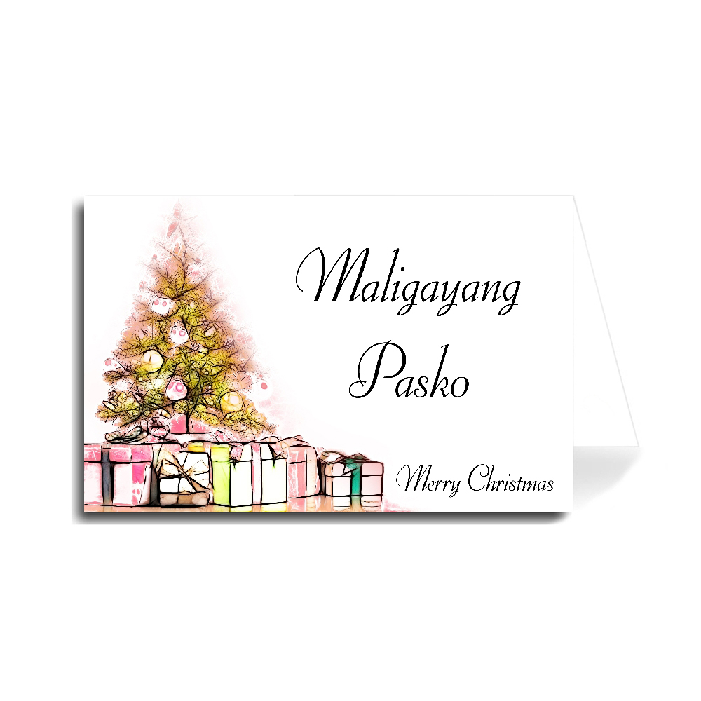 Merry Christmas In Tagalog.Greeting Cards Holiday Christmas Made In Usa