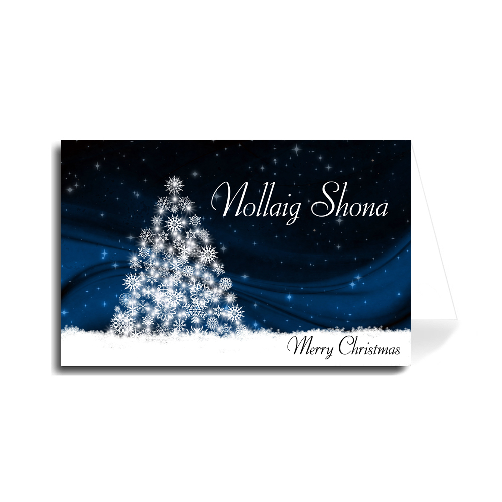 Merry Christmas In Irish.Greeting Cards Holiday Christmas Made In Usa
