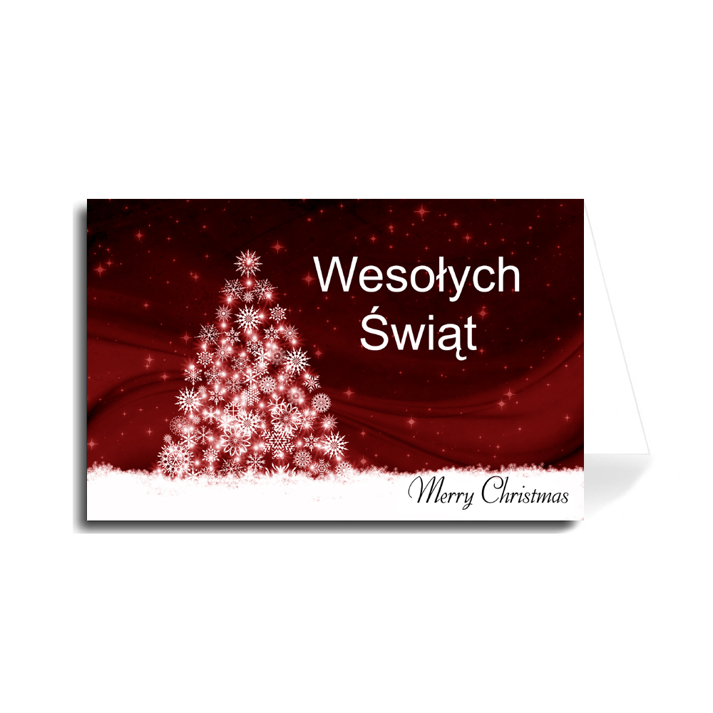 Merry Christmas In Polish.Greeting Cards Holiday Christmas Made In Usa
