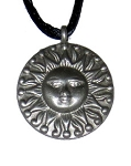 Pewter Pendant - Sun Disc Small