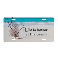 Artisan Decor License Plate - Life is better at the Beach #1