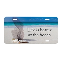 Artisan Decor License Plate - Life is better at the Beach #2