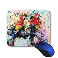 Mouse Pad - Red Macaw Pair
