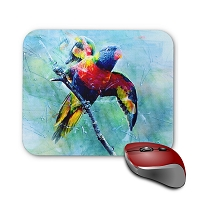Mouse Pad - Rainbow Lorie