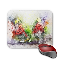 Mouse Pad - Pair of Scarlet Macaw