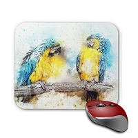 Mouse Pad - Pair of Blue & Gold Macaw 2