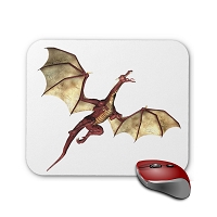 Fantasy Mouse Pad - Red Dragon