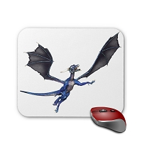Fantasy Mouse Pad - Blue Dragon