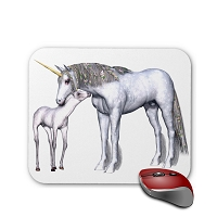 Fantasy Mouse Pad - Unicorn and Baby