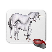Fantasy Mouse Pad - Unicorn and Baby 2
