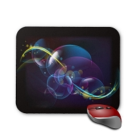 Fantasy Mouse Pad - Black Abstract