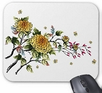 Mouse Pad - Flowers and Bees