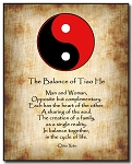 Love Poem Plaque - Yin Yang (R/B) by Qiao Xiao Brown Background