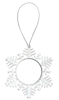 Custom Clear Snowflake Holiday Ornament -