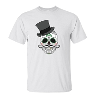 T-Shirt - Skull Top Hat